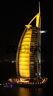 A general view of the world's first seven stars luxury hotel Burj Al Arab 'Tower of the Arabs'