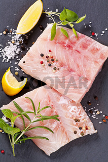 ocean perch fillet with fresh herbs