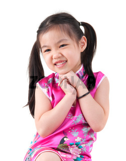 Little girl in Cheongsam