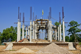 Construction of churches.