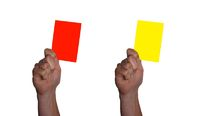 red and yellow card