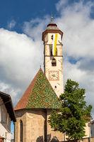 St. Ulrich church in Deutschnofen, Nova Ponente, Dolomites, South Tyrol