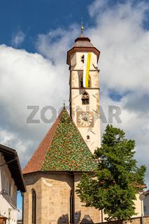Kirche St. Ulrich in Deutschnofen, Nova Ponente, Dolomiten, Suedtirol