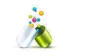 Health pill with vitamins balls