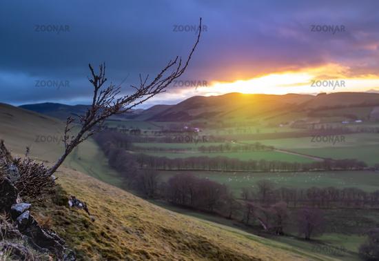 Scottish Valley Winter Sunset