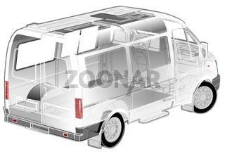 Van ifographics cutaway