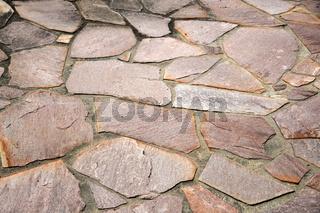 Pflaster aus Porphyr, Polygonalplatten