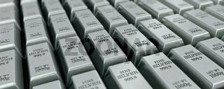 Viele Silberbarren