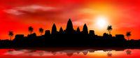 The ancient city of Angkor Wat