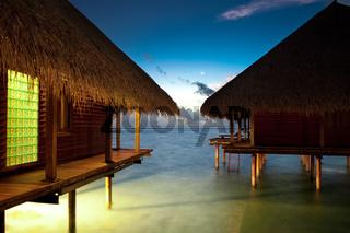Malediven Bungalow Wasserbungalow