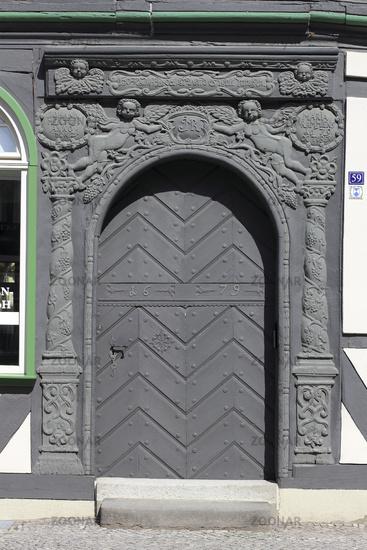 Medieval carved portal in Tangermuende
