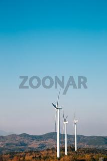 Yeongdeok Wind Farm in Yeongdeok, Korea