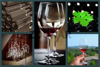 Wine collage.