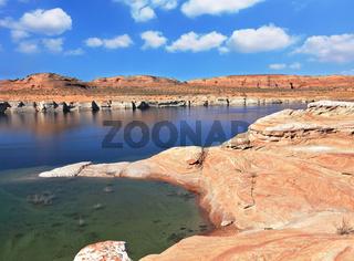 The  Lake Powell in the  desert of California