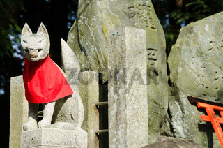 Kleine Fuchs Statue Fushimi Inari Shrine in Kyoto