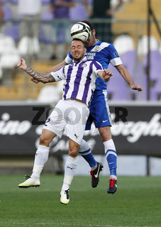 Ujpest vs. MTK OTP Bank League football match
