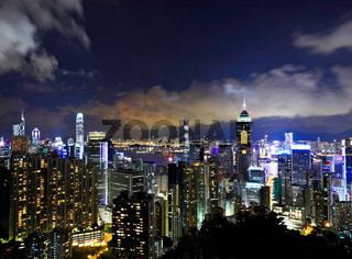 Hong Kong city night