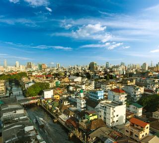 Bangkok aerial view . Thailand