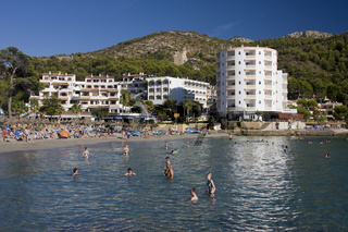 Strand von Sant Elm, Mallorca, Balearen, Spanien, Europa