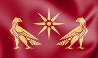 3D Flag of Artaxiad dynasty. 3D Illustration.