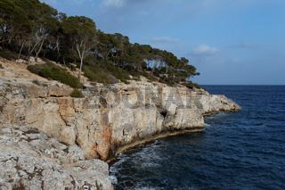 Die Bucht Cala Mondrago auf Mallorca
