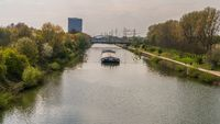 The Rhine-Herne Canal in Oberhausen, Germany