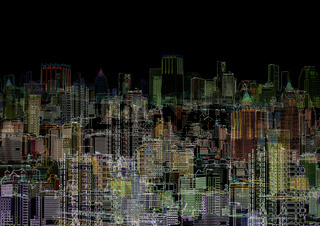 Abstract graphic composition - night metropolis