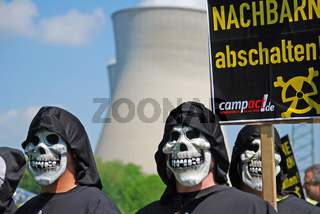 Anti-Atomkraft-Demonstration beim Kernkraftwerk Gundremmingen