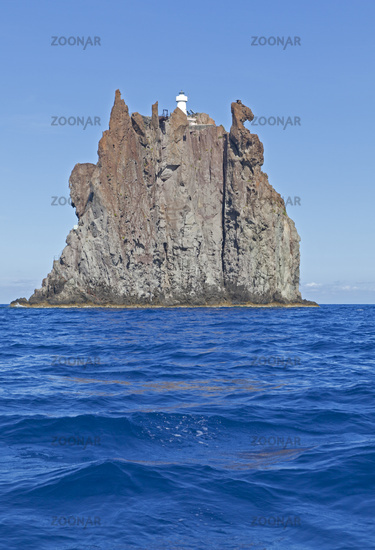 Island Strombolicchio at Stromboli, Aeolian Island