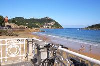 La Concha Beach Promenade, San Sebastián, Spain