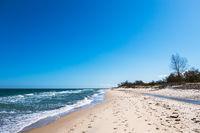 Strand an der Küste der Ostsee bei Kühlungsborn