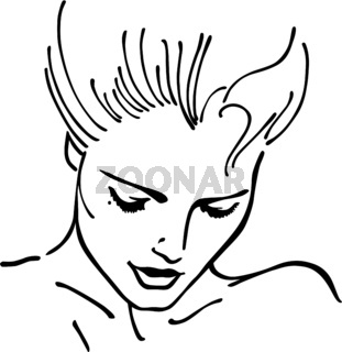 Woman face character