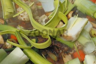Kesselfleisch mit Gemüse / Meat and vegetables