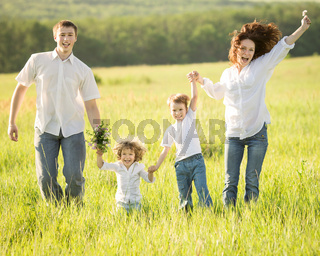 Active family outdoors