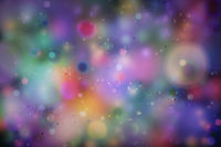 Colourful magic light, abstract bokeh background