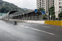 city tunnel exit background