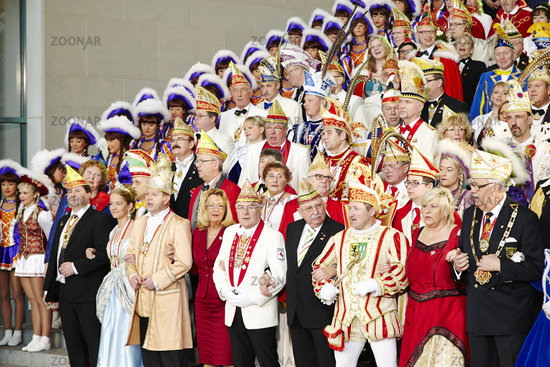 Merkel receives the Federation of German Carnival