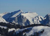 Wintery mountain landscape near Zweisimmen.