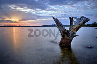 Sonnenuntergang am Kahnsdorfer See.