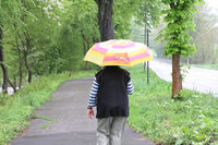 Rainy weather, walk