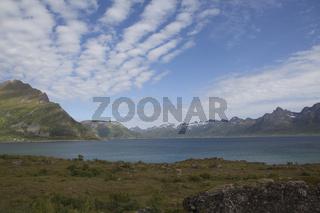 Küstenlandschaft, Lofoten, Nordnorwegen