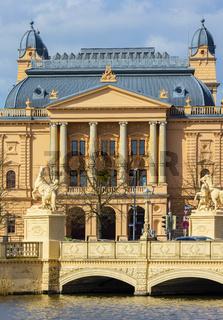 Schwerin Mecklenburgisches Staatstheater Panorama Bühne Kunst, Kultur, staatliches Theater
