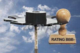 Stempel Rating BBB minus | stamp Rating BBB minus