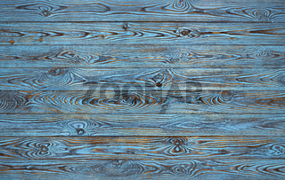 Blue wooden planks background, old and grunge blue colored wood texture
