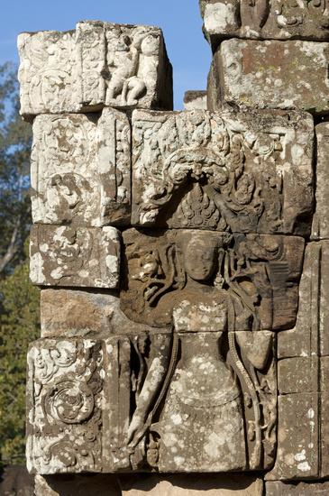 Celestial  temple guardian, Bayon temple, Cambodia