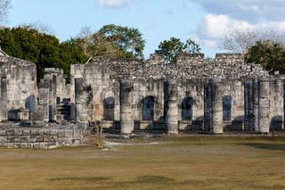 Mayan Columns at Chichen Itza