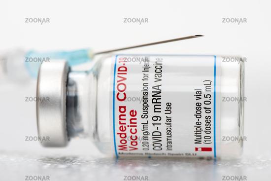 original vials with vaccine against covid-19 virus