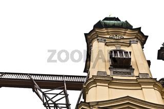 Baustelle auf der Ursulinenkirche, Landstrasse, Linz, Oberösterreich, Österreich, Europa
