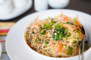 Delicious fried rice noodles