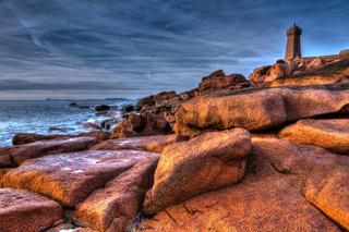 Leuchtturm Men Ruz, Cote de Granit Rose, Bretagne